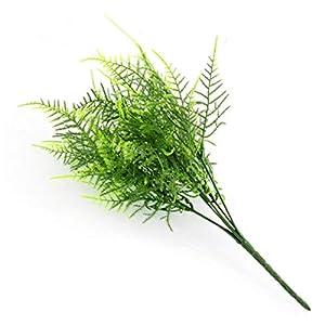 Flower Home - 5pcs Lot Plastic Green Plants 7 Stems Artificial Asparagus Fern Grass Bushes Flower Deor Decorative - Rodney Delivery Mason Cemetery Updo Backdrop Mother Weddings Photograp 2