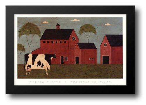 Nellie's Barn 32x22 Framed Art Print by Kimble, Warren