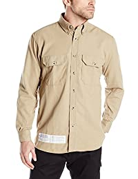 Bulwark Flame Resistant 7 oz CoolTouch 2 Dress Uniform Shirt, Khaki, XLarge
