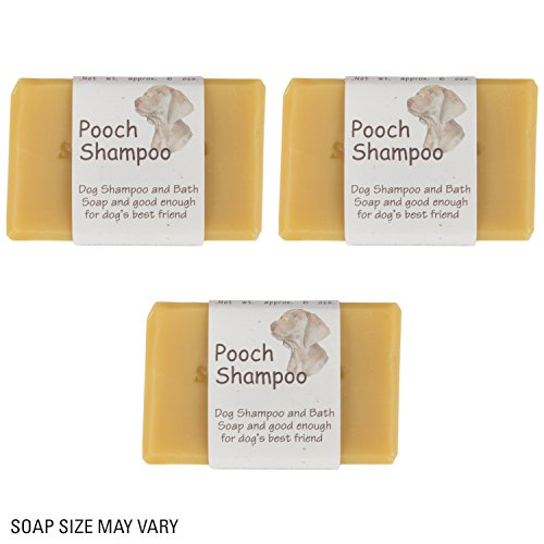 Dog/Pet shampoo - Pet Friendly, PH Balanced, Paraben Free Goat 100% Natural Milk Soap FOR DOGS CATS, HORSES, HUMANS Handmade in the USA 6oz (3 Pack) ()