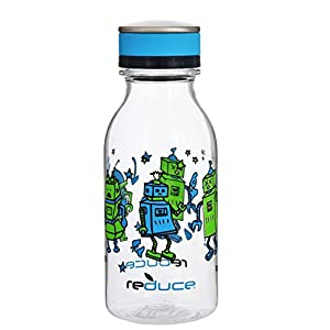 reduce WaterWeek Bottle, Robots, 14oz - Great for Kids on the go & Ideal for Home or Kitchen