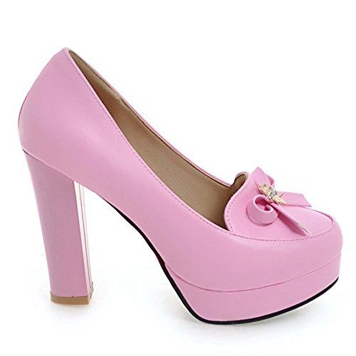 DoraTasia Damen Durchg?ngies Plateau Sandalen mit Keilabsatz, Pink