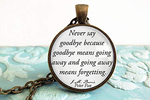 Amazon.com: Peter Pan Quote - Best Friend Keychain - Moving ...