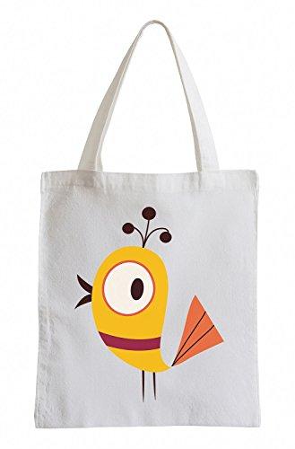 Raxxpurl Yellow Bird Fun sacchetto di iuta
