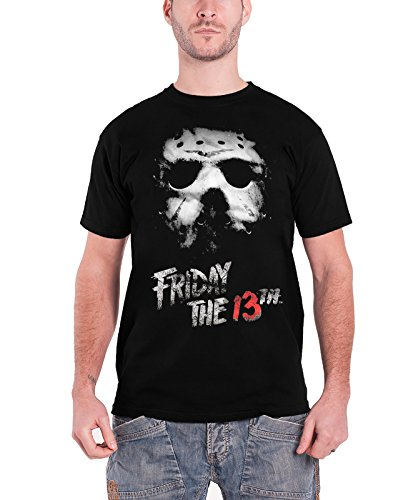 [Friday The 13th T Shirt Logo new Official Mens Black] (Jason Vorhees Masks)
