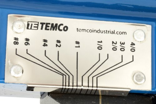 TEMCo Lug Crimper Tool TH0012-8 AWG - 0000 AWG(4/0) DIELESS Indent Electrical Battery Terminal Cable Wire 5 YEAR WARRANTY by Temco (Image #5)