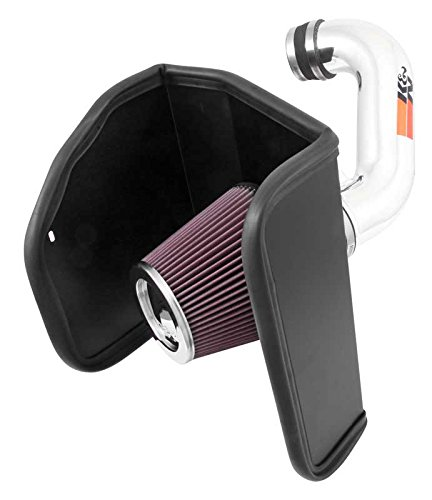 [K&N Performance Air Intake Kit 77-3088KP with Polished Metal Tube and Lifetime Red Oiled Filter for Chevrolet Colorado, GMC Canyon] (Air Intake Polished Tube)