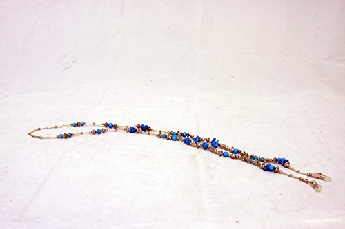 32 Turquoise and Silver Detail Eyeglass Chain Made in USA (New York) by Melissa - New York Stores Eyeglasses