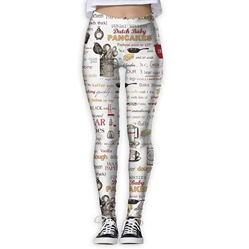 (Women Kiss The Cook Recipes Athletic Yoga Pants Printed Sports Workout Gym)
