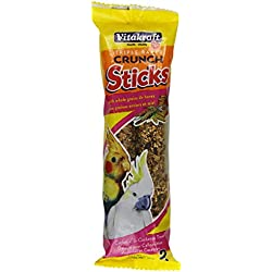 Vitakraft Cockatiel & Cockatto Whole Grains & Honey Treat Sticks 2 Pack, 5.9 Ounce