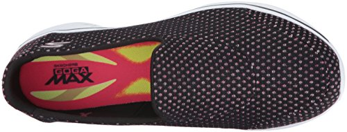 Skechers Performance Womens Go Walk 4 Scarponcino Slip-on Kindle Nero / Rosa