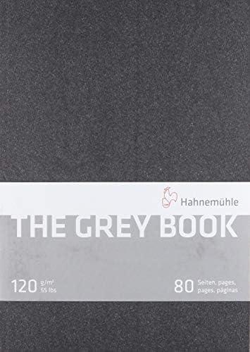 Hahnemuhle グレーブックスケッチブック A4 (11.7x8.3インチ) 120gsm 40枚/80ページ