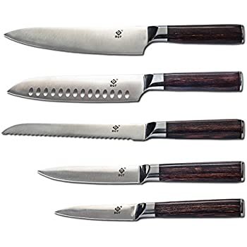 BGT Japanese Kitchen Knives With Color Wood Handle Stainless Steel Kitchen  Knife Set 3.5u0027u0027