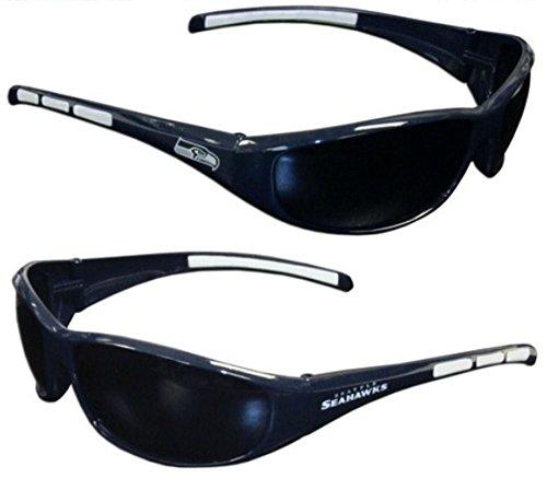 Seattle Sunglasses Seahawks - Purchadise NFL 3-Dot Wrap Sunglasses (Seattle Seahawks)