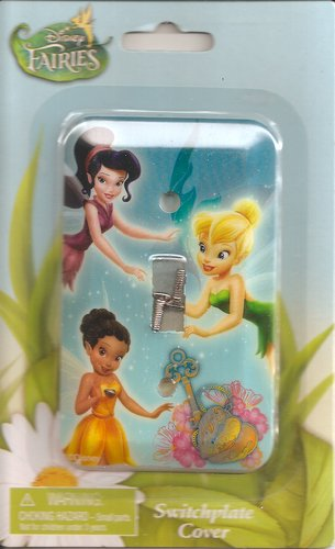 Decor Switchplate - Game/Play Disney Fairies Tinker Bell Switchplate Cover - Kids Bedroom Playroom Decor Light Switch Plate Kid/Child