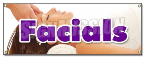 FACIALS BANNER SIGN spa beauty shop massage manicure pedicure no appointment
