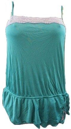 TED BAKER gala de color verde esmeralda detalle de encaje y la parte inferior de cordones