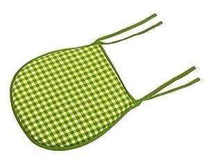 """Cache Cuadros Vichy Cuadrado Blanco Verde Borla Cierre de Cremallera 100% Cotton Cojín de Asiento Cojín 36 X 34cm - 14 """"X 13"""""""