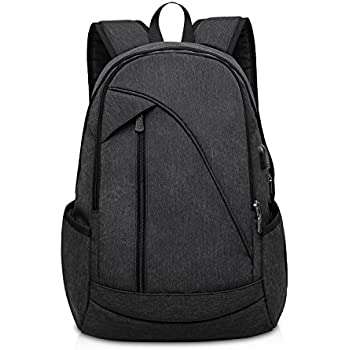 Amazon.com: ibagbar Water Resistant Laptop Backpack with USB ...