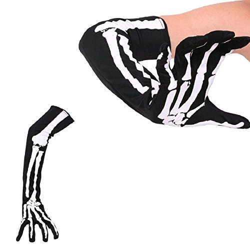 BESTOYARD Skeleton Gloves Halloween Skeleton Gloves Long Arm Full Finger Skeleton Gloves Costume
