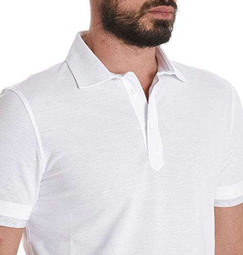 Brunello Cucinelli Herren MTS253966CW787 Weiss Baumwolle Poloshirt
