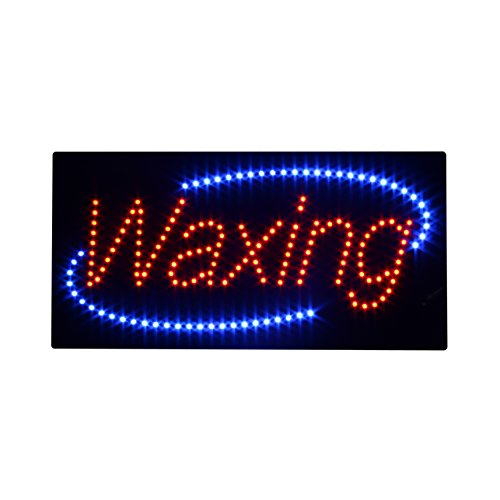 (LED Waxing Open Light Sign Super Bright Electric Advertising Display Board for Message Business Shop Store Window Bedroom (19 x 10 inches))