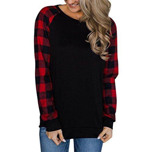 07400a5e7d7 Nadition Plus Size Tops Clearance !!! Women s Color Block Long Sleeve Tunic  Sweatshirt T