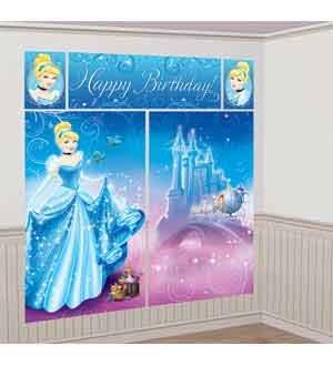 (Cinderella 'Sparkle' Giant Scene Setter Wall Decorating Kit)