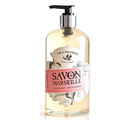 Pre de Provence Savon De Marseille Liquid Hand Soap for Bathroom, Laundry Rooms, & Kitchen Sinks (16.9 fl oz) - Fig (Scented Liquid)