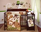 Nojo 4 Piece Secure-me Bumper - Baby Safari