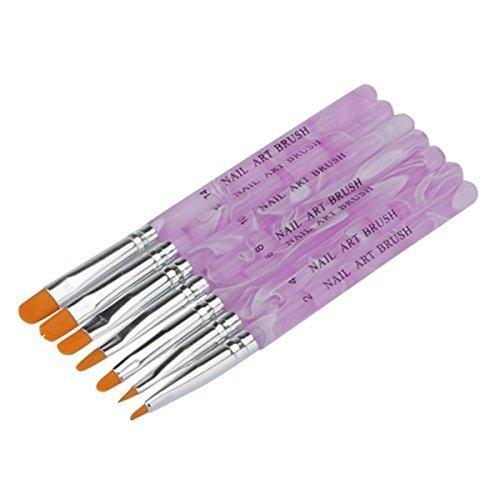 7 pinceaux ongles nail art Brosses et déco d'ongles gel UV ou acrylique Cvictims