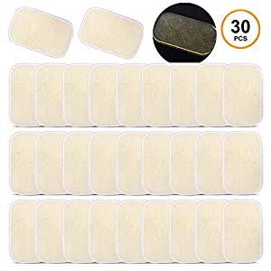 Sportneer Ab Gel Pads, 30 Pack Abs Trainer Replacement Gel Sheets, Abdominal Toning Belt Muscle Training Toner Accessories