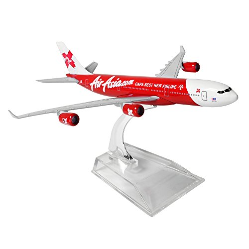 Air Asia Airbus 340 16Cm Metal Airplane Models Birthday Gift
