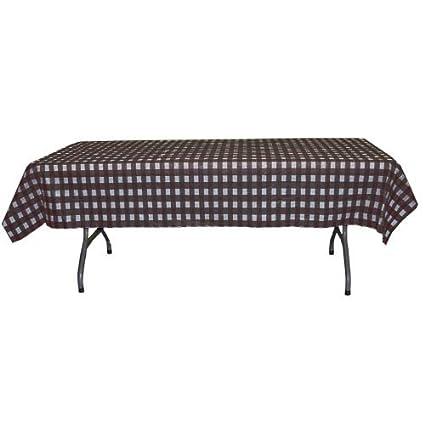 Black Gingham Checkerboard Plastic Table Cover   54u0026quot; X 108u0026quot; ...