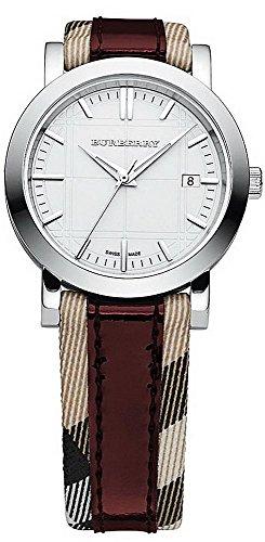 Burberry Women's BU1397 Round 3-Hand Date White Dial Watch