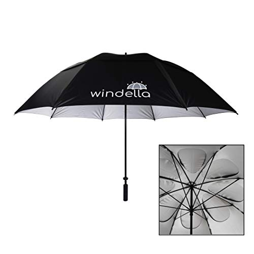 Windproof Golf Umbrellas, UPF 50+ UV, 48 mph Tested Oversize 68 Inch Vented Double Canopy w/Sun and Rain Protection Fits 3 People, for Men and Women