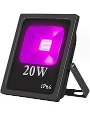 Zwarte lichtlamp, 20 W, UV-blacklight spot, 85 V-265 V AC led IP66 impregneren 395-400 nm golflengten schijnwerper voor uitharding, feesten, stadions, decoratief licht