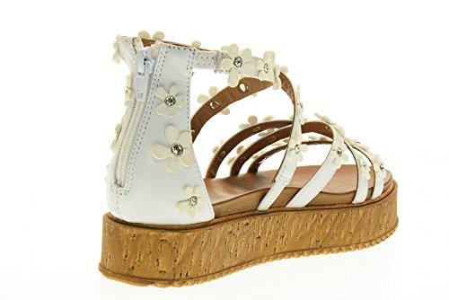 las BLANCO INUOVO 7244 los blanco mujeres plataforma zapatos de sandalias Color de t6qfzZwnq