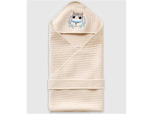 Wetietir Soft Cozy Newborn Kids Warm Swaddle Wrap Blanket Cat Embroidery Sleeping Bag Suitable for 0-6 Months Baby Sleeping Bag