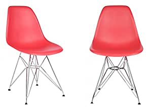Amazon.com: 2 x Ariel moldeado plástico de color rojo, Shell ...