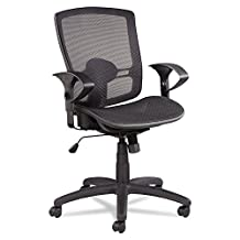 Alera Etros Series Suspension Mid-Back Synchro Tilt Chair With Mesh Back Seat, Black
