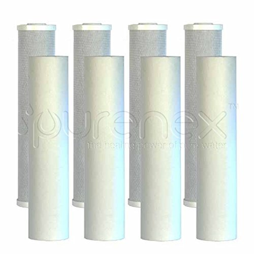 Purenex 4C-20B-4S5-20B Cartridges for 20 Big Obscene Whole-House Water Filters, 8-Pack