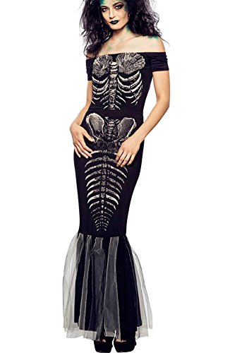 [Aimur Halloween Costume Zombie Mermaid Bodysuits Maxi Dresses for Adult Women] (Dark Knight Rises Catwoman Costume Material)