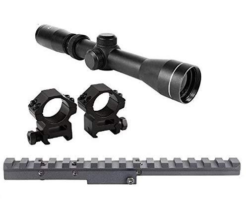 Rail Eye - GOTICAL Combo of Mosin Nagant 2-7x32 Long Eye Relief Scope + Scout Rail Mount for Mosin Nagant 91/30 M38 M44 1891 91/30 1891/30 Rifles +1 Inch Ring