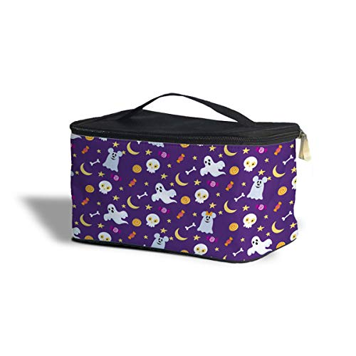 Queen of Cases Halloween Mickey & Minnie Ghosts Disney Inspired Cosmetics Storage Case - One Size Cosmetics Storage Case - Makeup Zipped Travel Bag]()