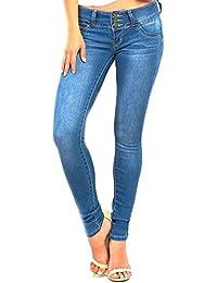 Wannabettabutt Skinny Jeans, Ocean Blue