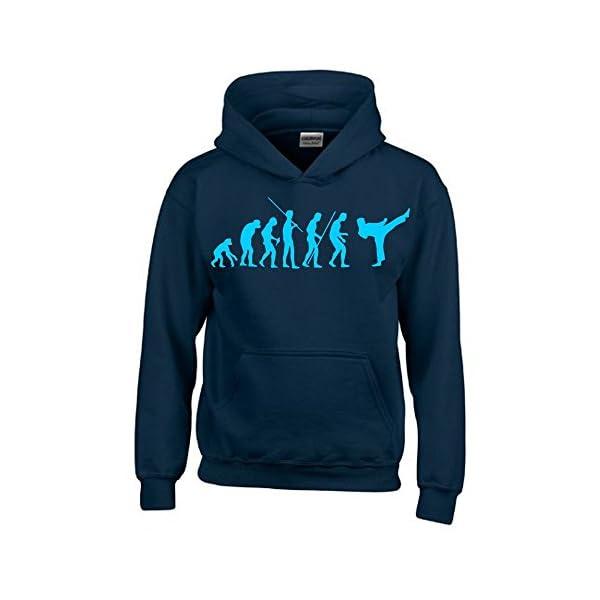 Coole Fun T Shirts Karate Evolution Kinder Sweatshirt Mit Kapuze