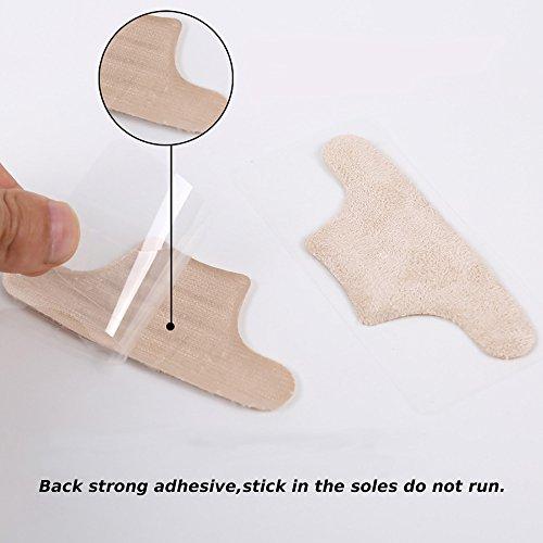 Soumit® Cómodo Espesado Invisible Suave Transparente Resistente al Desgaste Triángulo Hacia Atrás Talón con Viscosa de Silicona para Proteger el Pie Del Dolor Transparente Transparente