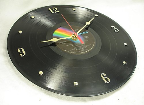"IT'S OUR EARTH ELTON JOHN Recycled Vinyl Record Clock – ""Goodbye Yellow Brick Road"" (1973)"