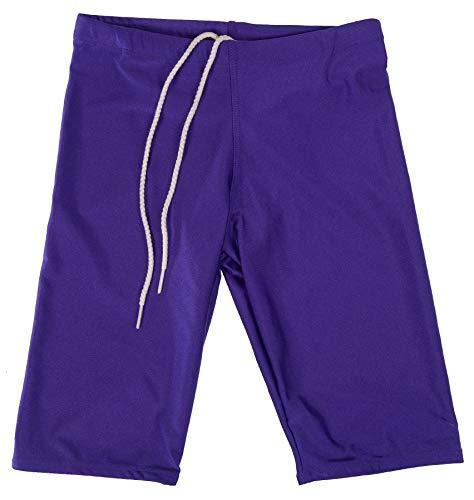 GaryM Kids Boys Solid Jammer Swim Suit Size 7-14 (4, ()